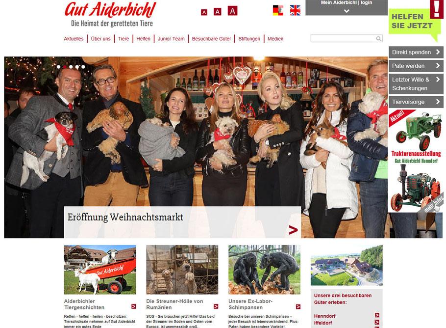 GUT AIDERBICHL - Heimat der geretteten Tiere!