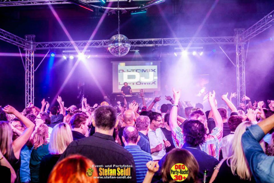 ü30 Party DJ Tomix DEG Partynacht Stadthalle Deggendorf