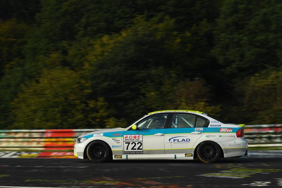 BMW E90 vom EPS Rennsport Team im Einsatz beim 24h Rennen auf dem Nürburgring