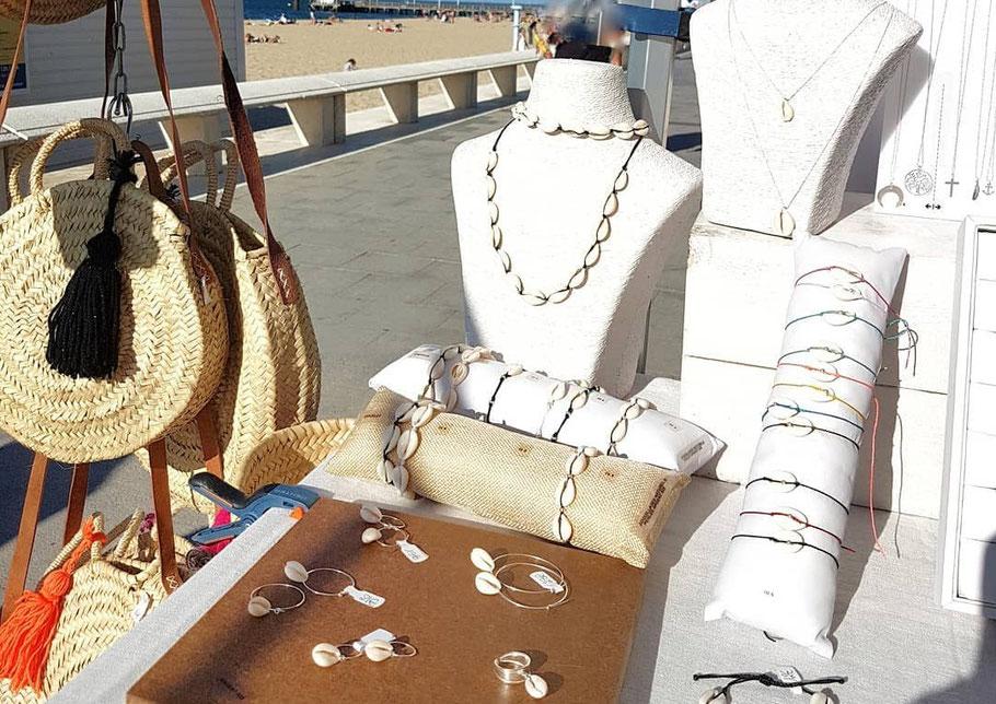 Collection de bijoux coquillages cauris faits main