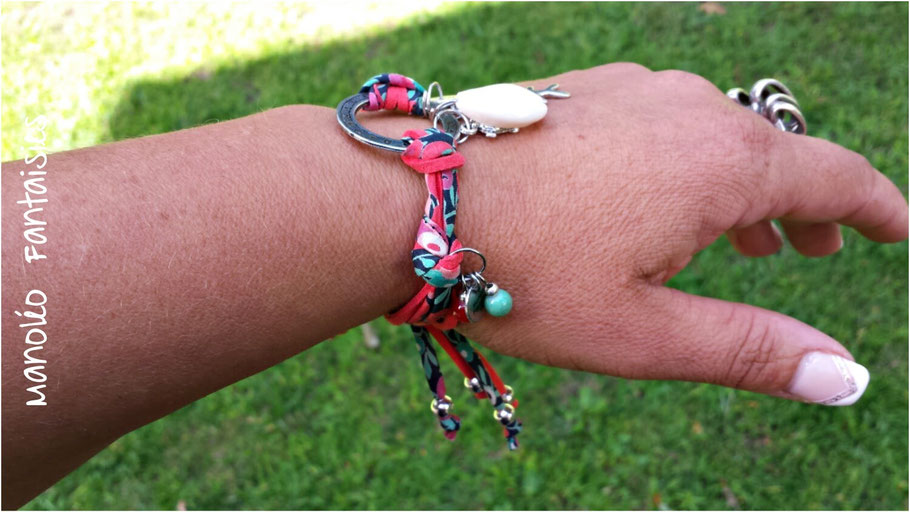 bracelet sans fermoir manoleo fantaisies coquillage poisson tortue perles chic boho bohème lade in Bassin d'Arcachon