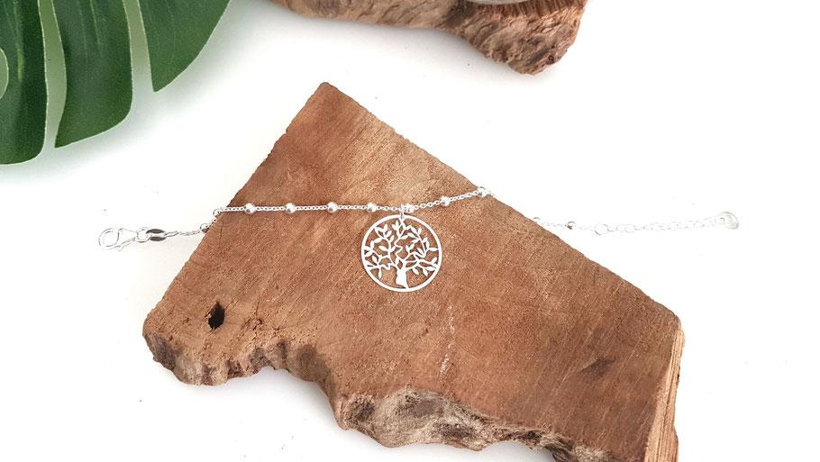 Bracelet en argent arbre de vie