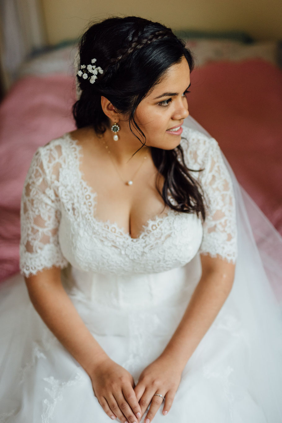 Braut auf der Hochzeit