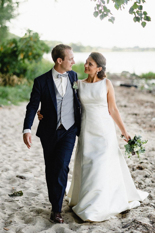 Paar Sonne Hochzeit Strand Ostsee