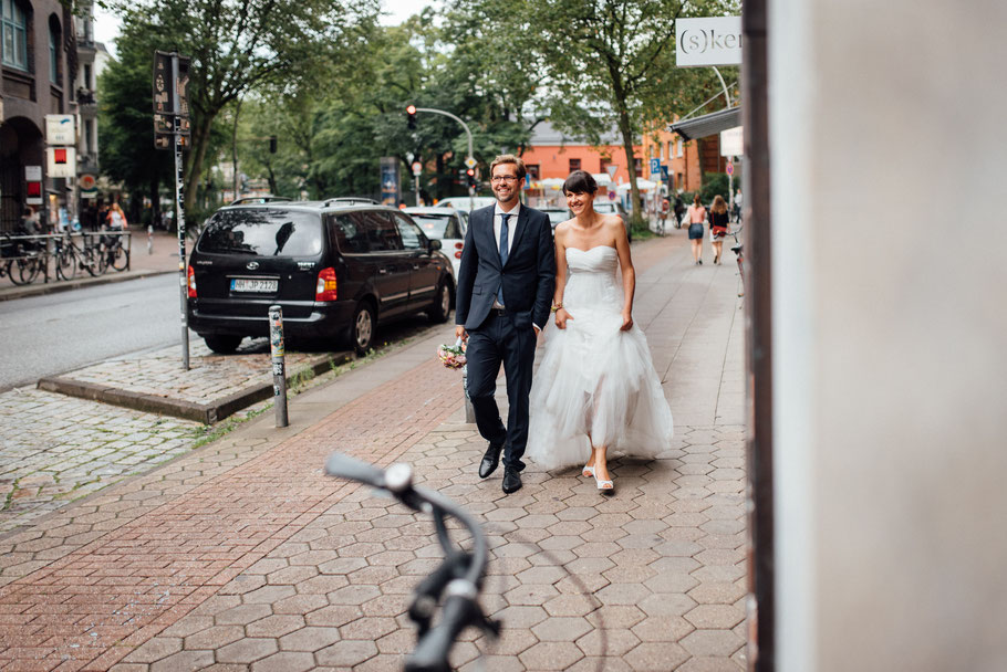 Hochzeit  in der Schanze mit Helena und Hannes