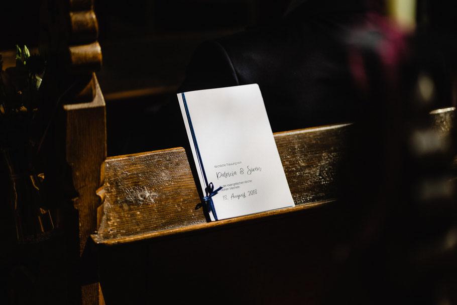Programmheft Trauung Kirche