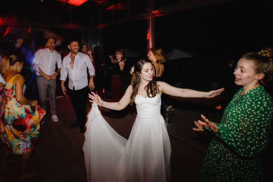 Braut Party Tanzen grün weiß