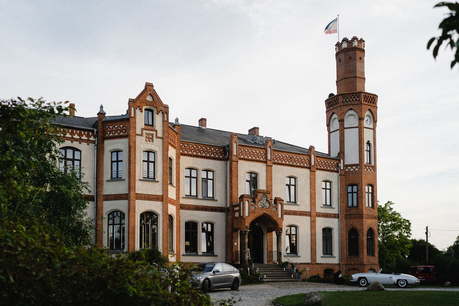 Abendsonne über dem Schloss Gamehl