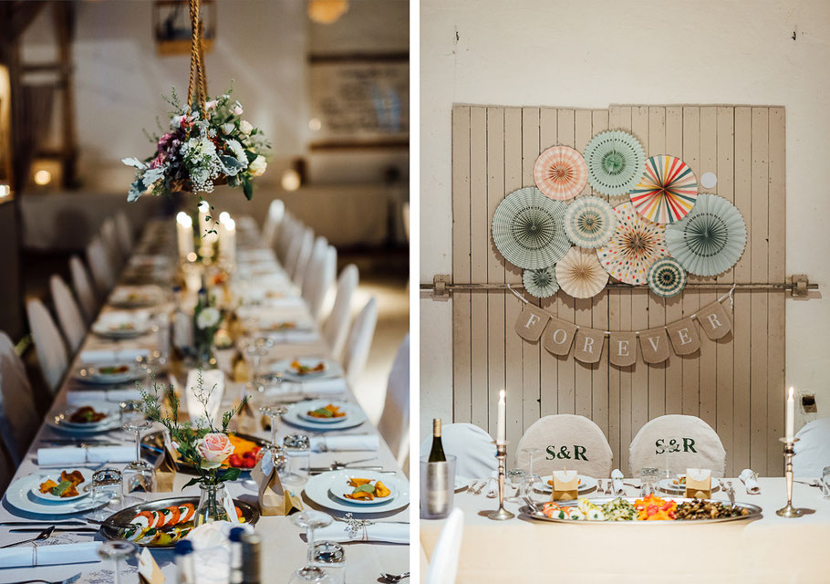 Tisch Deko Abend Hochzeit