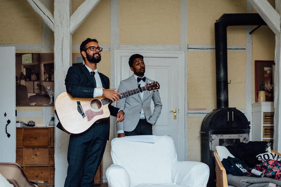Gitarre Hochzeit Probe Musiker