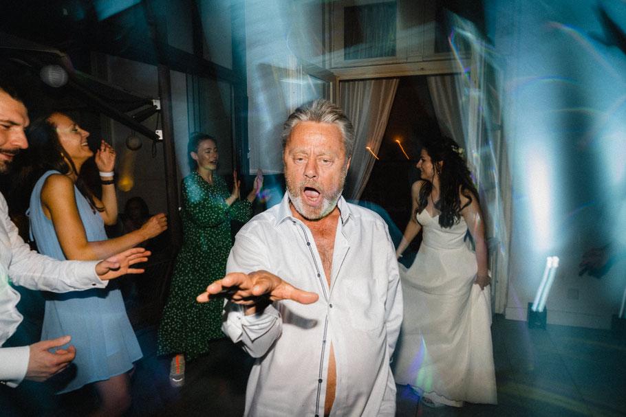 Fröhlich Tanzen Party Ausgelassen Hochzeitsbilder
