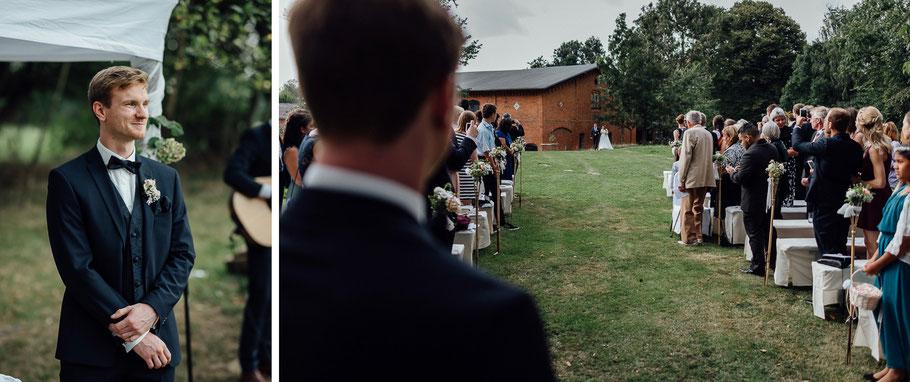 Die Vorfreude auf die Feier der Hochzeit steigt