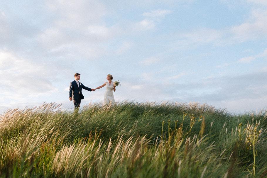 Dünen Grün Strand Hochzeit