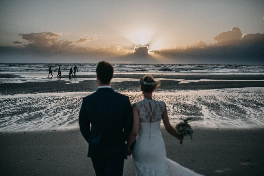 Strand Traum Abends Hochzeit Sonne Nordsee Hochzeitsfotograf Hamburg