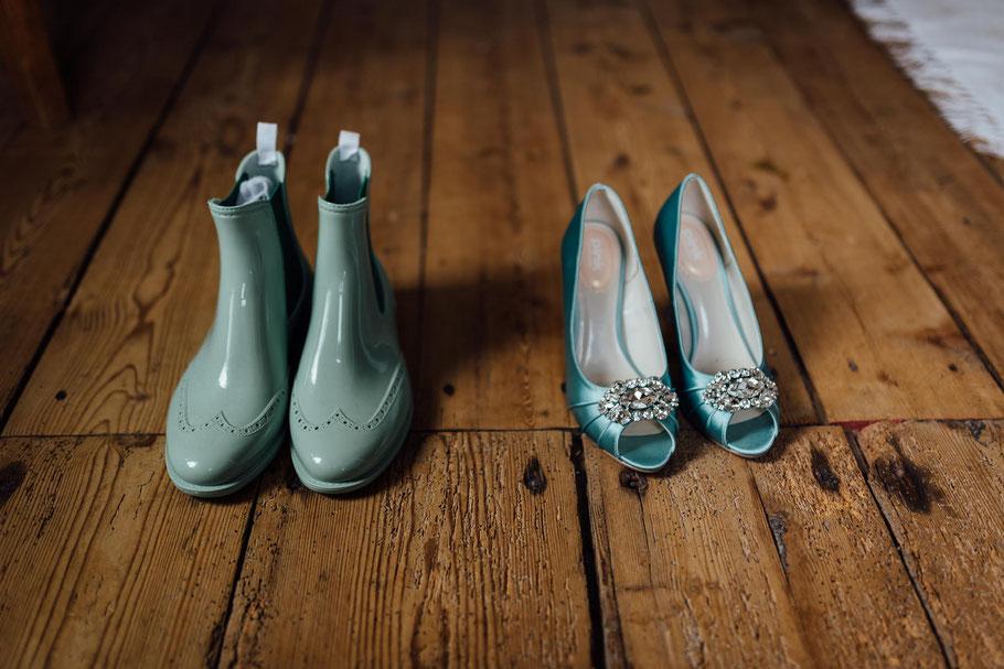 Schuhe und Ersatzschuhe Gummistiefel Braut