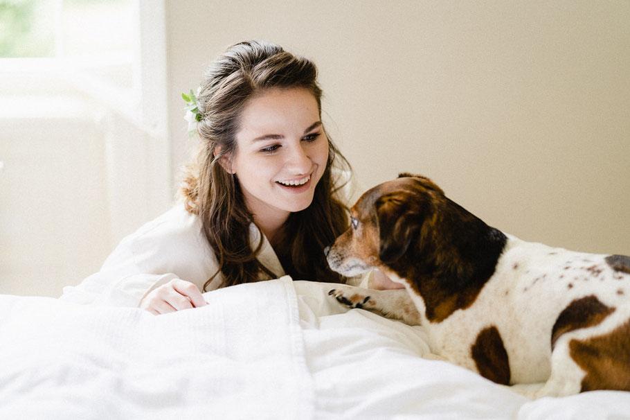 Frau Hund hübsch süß