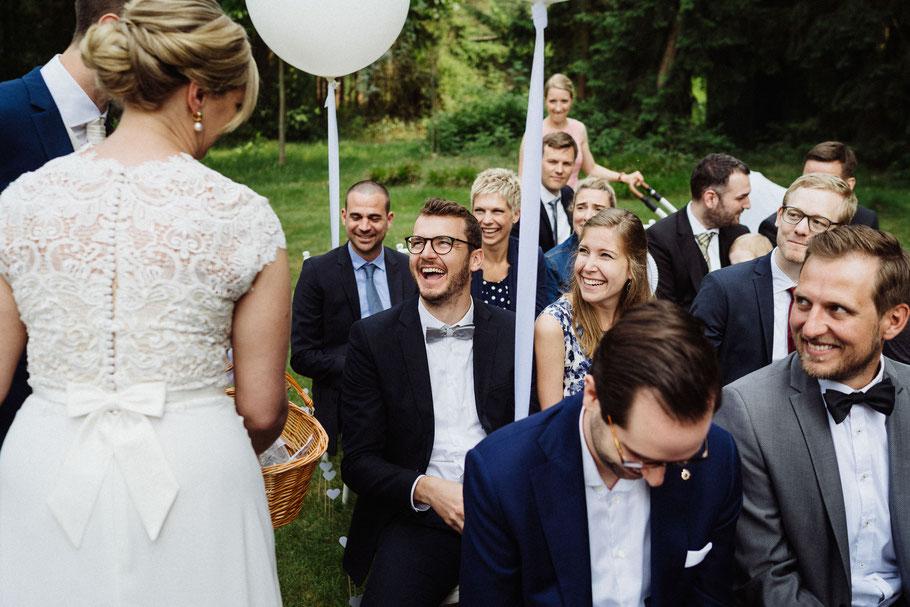 Gäste Fröhlich Mann Hochzeit Hamburg Fotograf