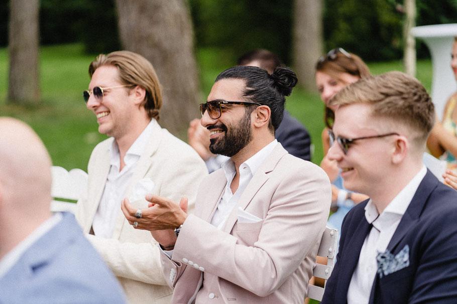 Applaus Männer Hochzeit Sonnenbrille Pferdeschwanz