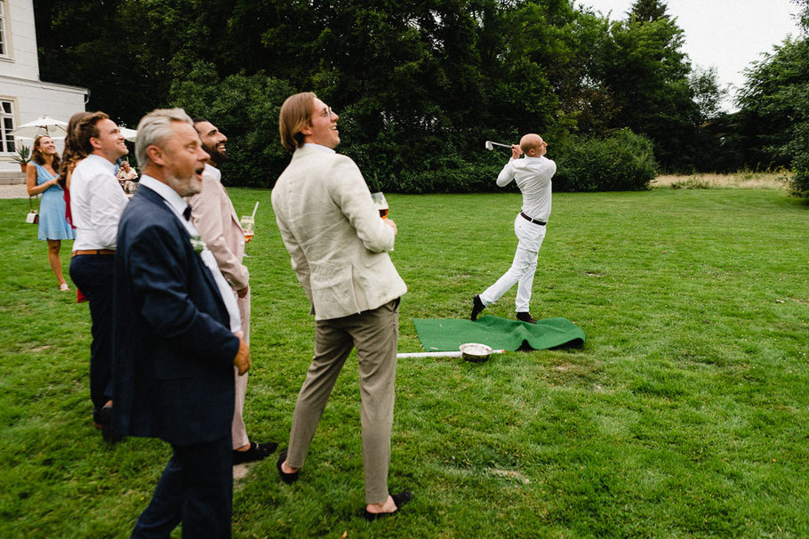 Golf Staunen Hochzeit
