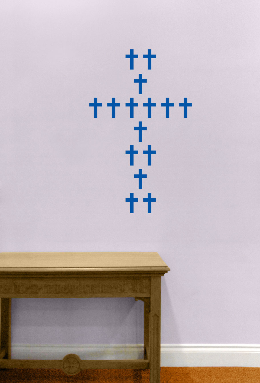Mixed pack sizes of vinyl Chunky Crosses to make your own interesting designs. They come in many colours and stick on flat smooth surfaces. Great for being spontaneously creative.