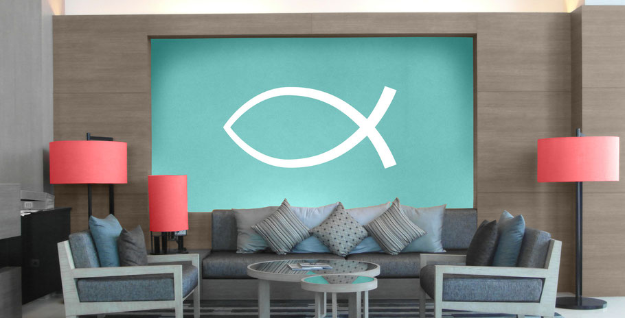 Ichthys Fish Sticker Decal Vinyl Wall Art Company