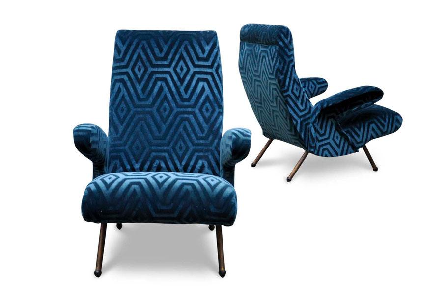 delfino arflex vintage retro mid century armchair erberto carboni