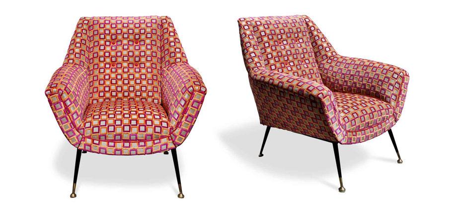 Poltrone vintage chair restaurate da Atelier Caruso 1861