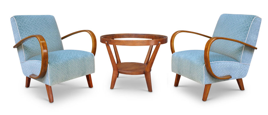 Art Deco chairs by Atelier Caruso Torino