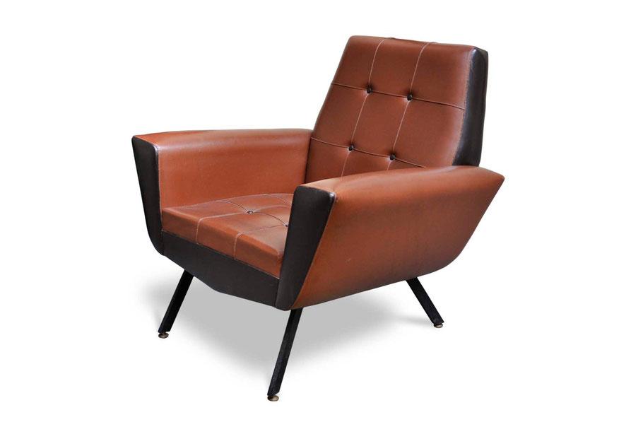 Vintage Italian armchair 50s-60s in Marco Zanuso - Osvaldo Borsani style for sale online on www.italianvintagesofa.com