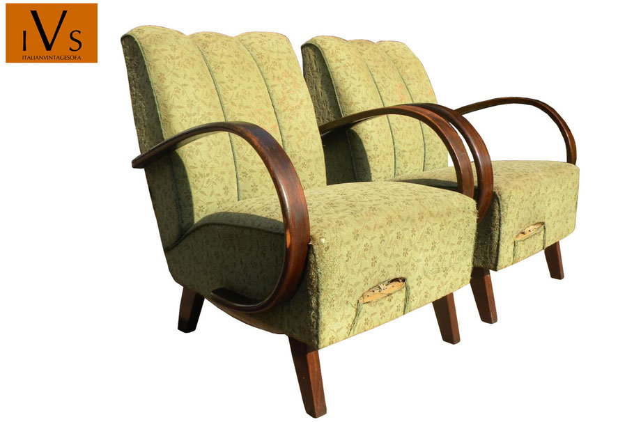 Poltrone art deco vintage in vendita - art deco armchairs for sale