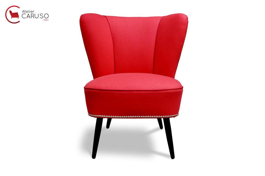 Cocktail chair poltrona vintage anni 50 restaurata da Atelier Caruso Torino
