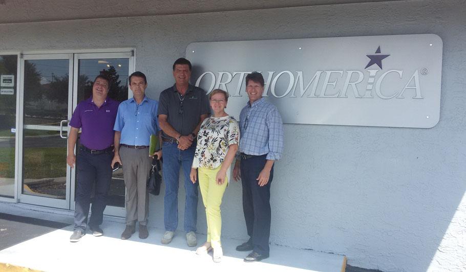 С коллегами, визит в ORTOMERICA (Орландо, США, 2016 г.)