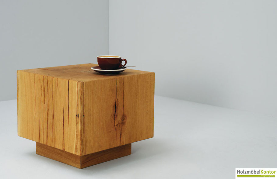 Holzblock-Tisch Bea jetzt im Holzmöbelkontor Online-Shop kaufen!