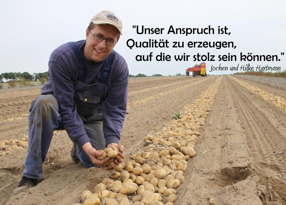 Jochen Hartmann aus Rettmer: Kartoffeln, Eier und mehr frisch vom Bauernhof