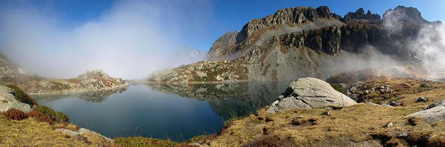 Le Lac de Pétarel (2090 m) - Valgaudemar (Massif des Ecrins)