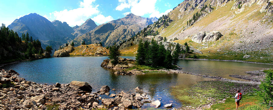 Le lac de Trécolpas, dans le Mercantour