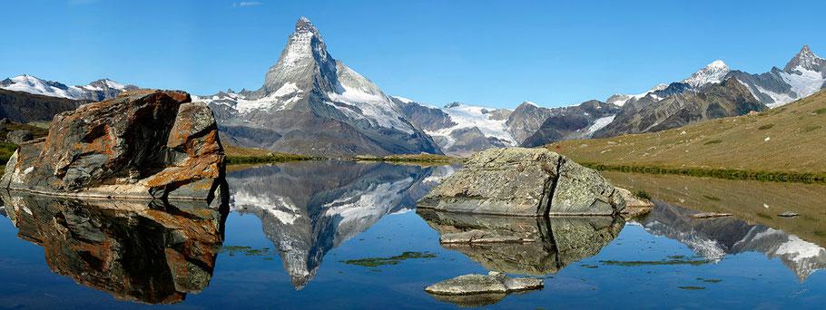 Lac Stellisee (2537 m) - Reflets du Cervin (Matterhorn)