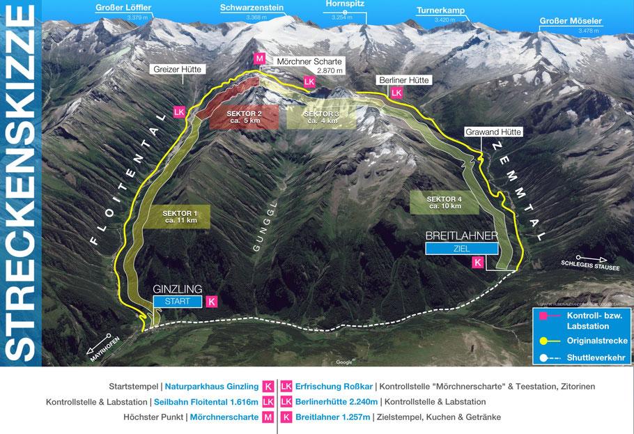 Streckenskizze Steinbocklauf