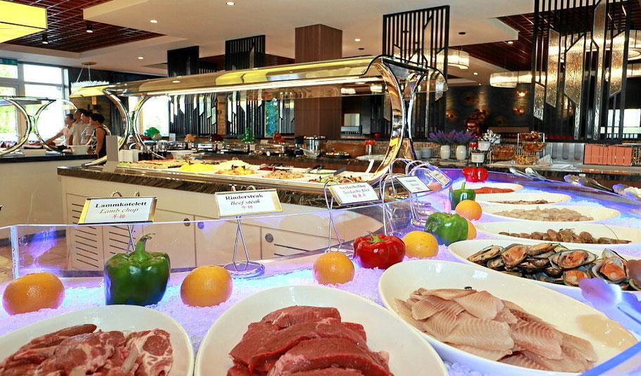 Fleisch und Gemüse für den mongolischen Grill