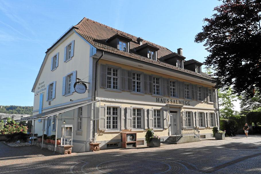 Haus Salmegg in Rheinfelden Baden. Standesamt direkt am Rheinufer an der schweizer Grenze.