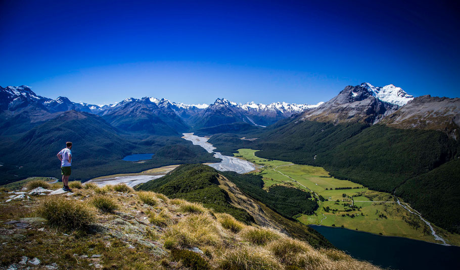 Paradise near Glenorchy. View from the summit of mount Alfred
