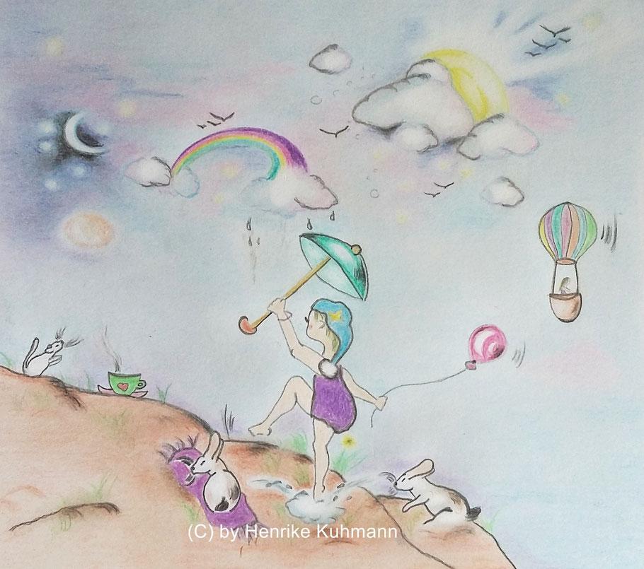 Kinderbuch Illustration über Freude