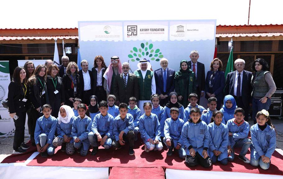 اليونسكو و مؤسسة كياني تطلقان من سعدنايل  مدارس اليونسكو المتوسطة لدعم تعليم اللاجئيين السوريين في لبنان