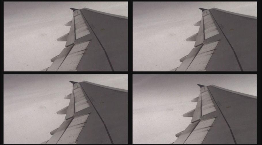 [ Plane ] Captura de la transición de uno de los vídeos proyectados. Detalle.