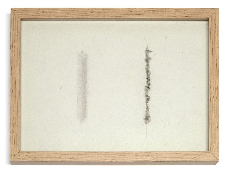 [ Language Memory ]  Lápiz carboncillo sobre papel hecho a mano. 21 x 30 cm.