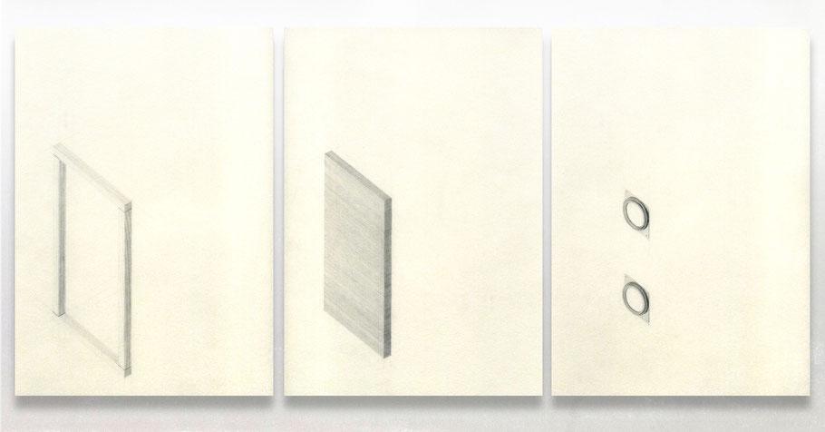 [ Altavoz ] Grafito sobre papel pergamino. 21 x 30 cm c/u. Detalle.
