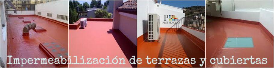 En PINTAERCEBA realizamos Impermeabilizaciones de terrazas y cubiertas