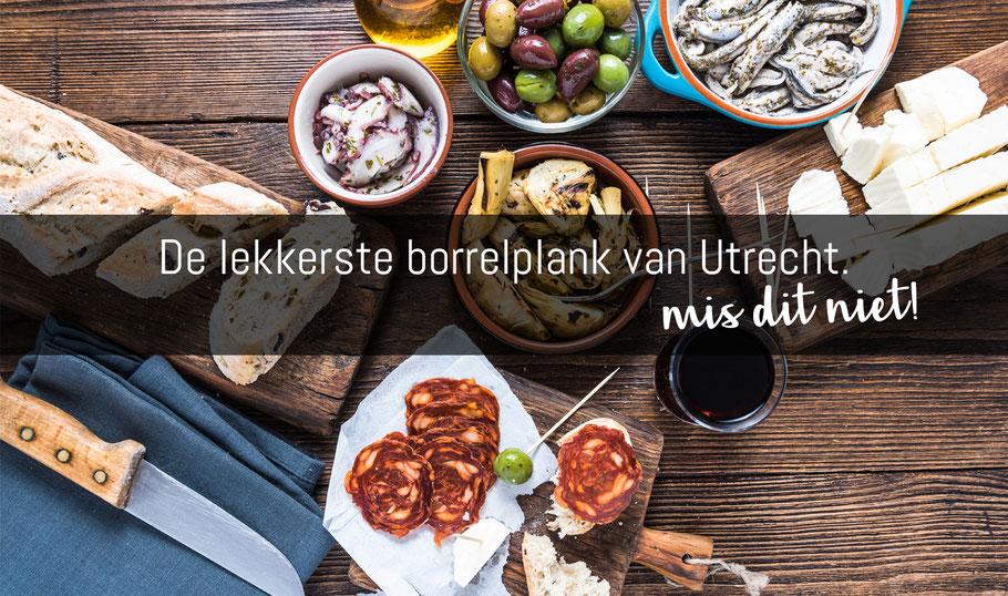 Borrelplank van Lucas, borrelhapjes bestellen in Utrecht.
