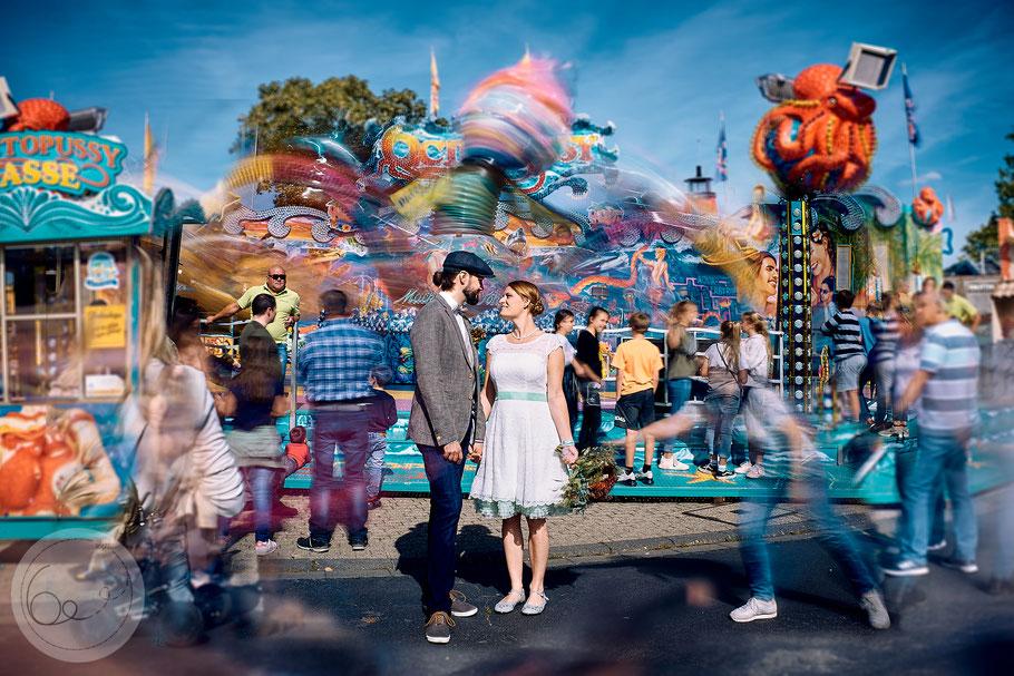 Hochzeit-Pützchens Markt-freie Trauung-Vintage