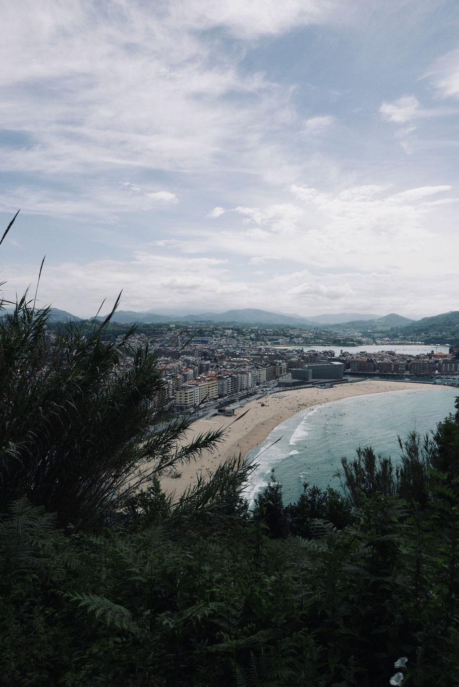 Blick vom Monte Urgull